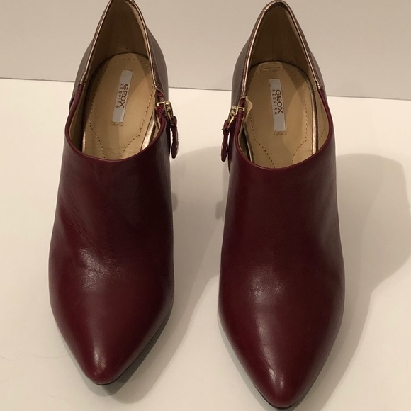 Geox Maroon ankle boots with heels